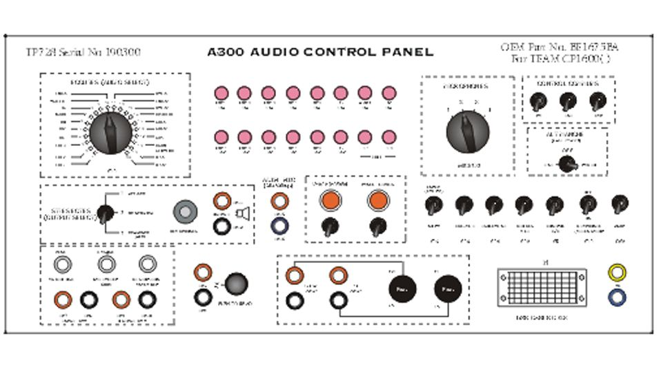 oem p  n be1675ba  to test a300 team audio control panel p